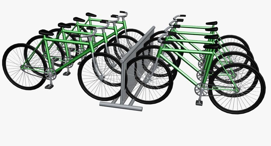 自転車と自転車ラック royalty-free 3d model - Preview no. 4