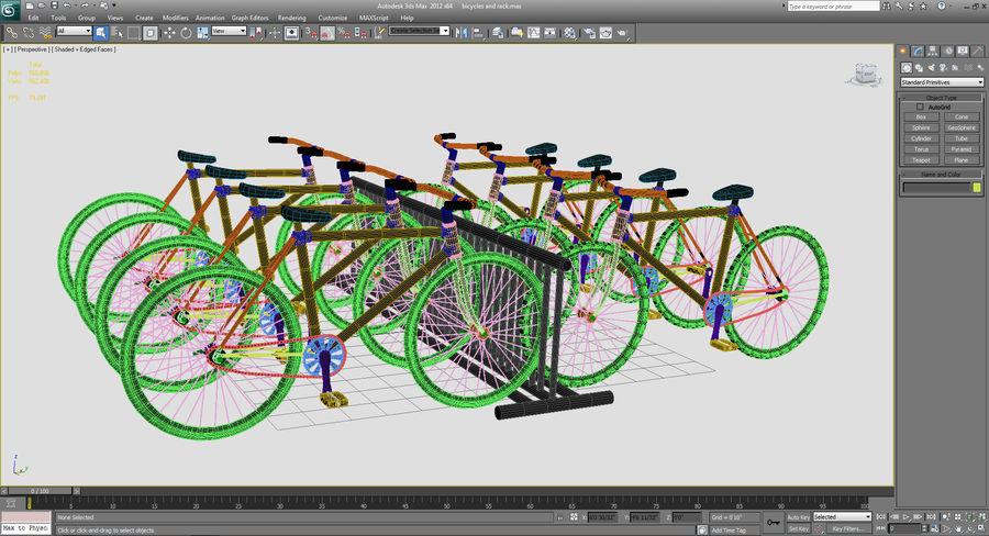 自転車と自転車ラック royalty-free 3d model - Preview no. 15