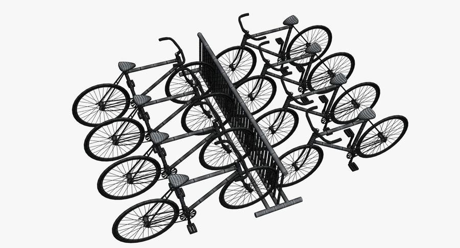 自転車と自転車ラック royalty-free 3d model - Preview no. 12