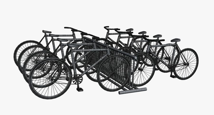 自転車と自転車ラック royalty-free 3d model - Preview no. 14