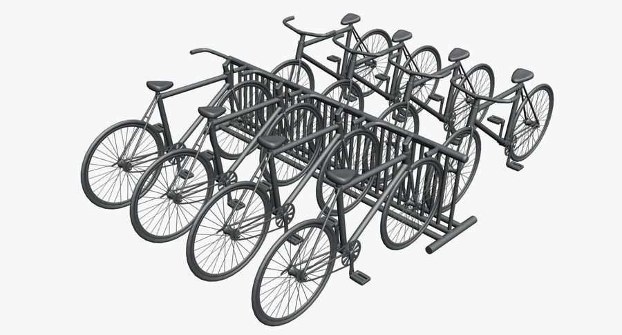 自転車と自転車ラック royalty-free 3d model - Preview no. 10