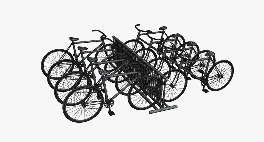 自転車と自転車ラック royalty-free 3d model - Preview no. 13
