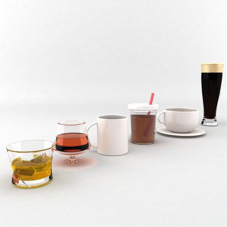 Collezione Bicchieri Bicchieri royalty-free 3d model - Preview no. 1