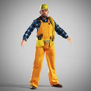 Byggmästare - arbetare 3d model