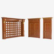 Set di porte di lusso 3d model