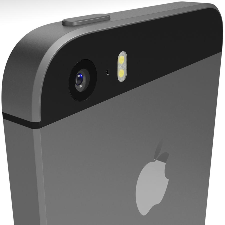 Apple iPhone SE Cinza Espaço royalty-free 3d model - Preview no. 6