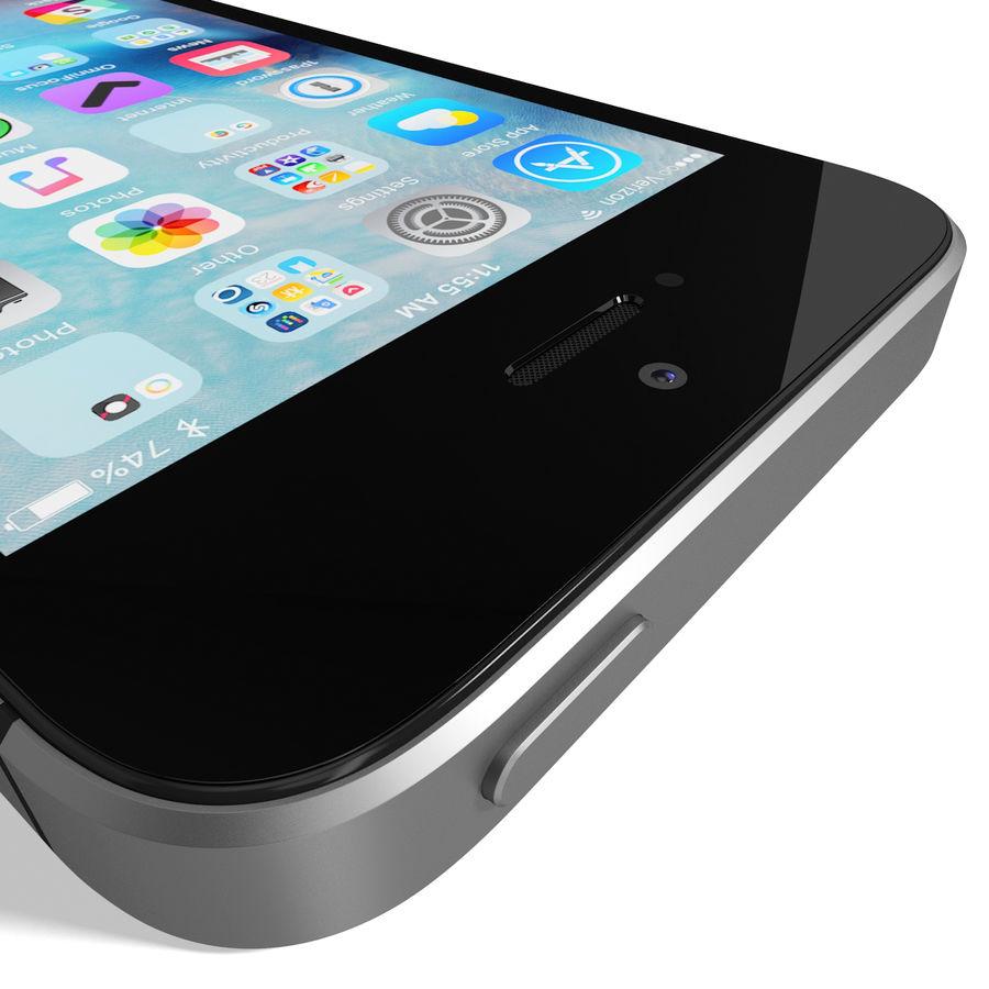 Apple iPhone SE Cinza Espaço royalty-free 3d model - Preview no. 16