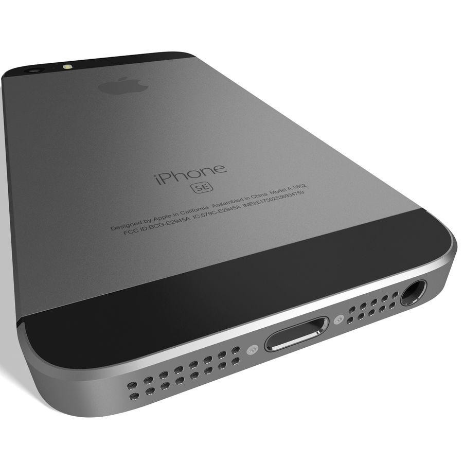 Apple iPhone SE Cinza Espaço royalty-free 3d model - Preview no. 8