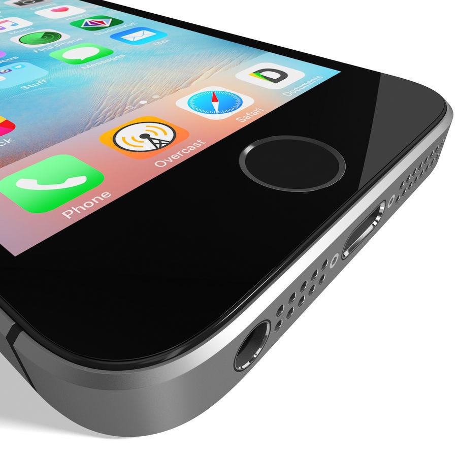 Apple iPhone SE Cinza Espaço royalty-free 3d model - Preview no. 15
