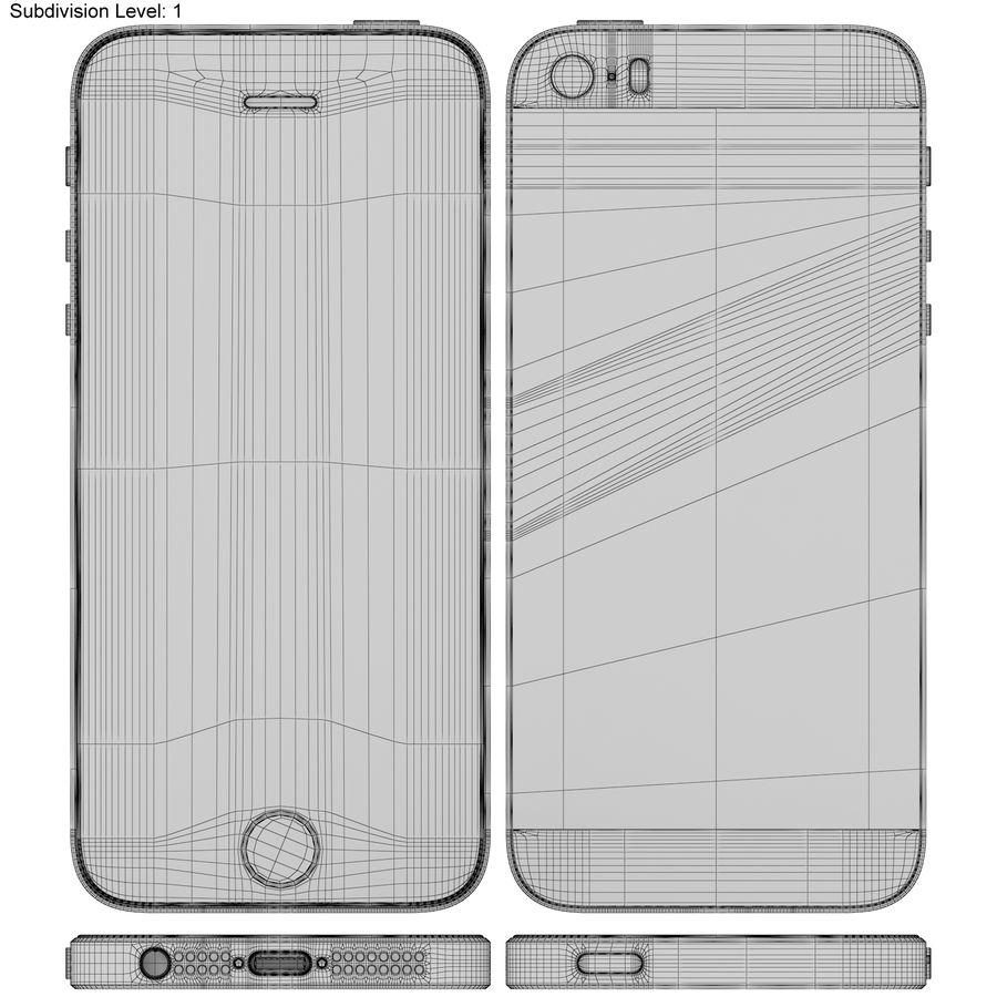 Apple iPhone SE Cinza Espaço royalty-free 3d model - Preview no. 18