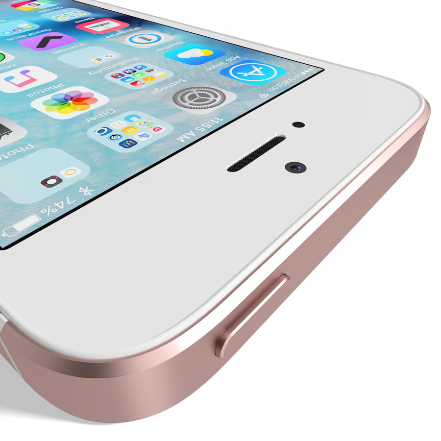 Apple iPhone SE Gül Altın royalty-free 3d model - Preview no. 16