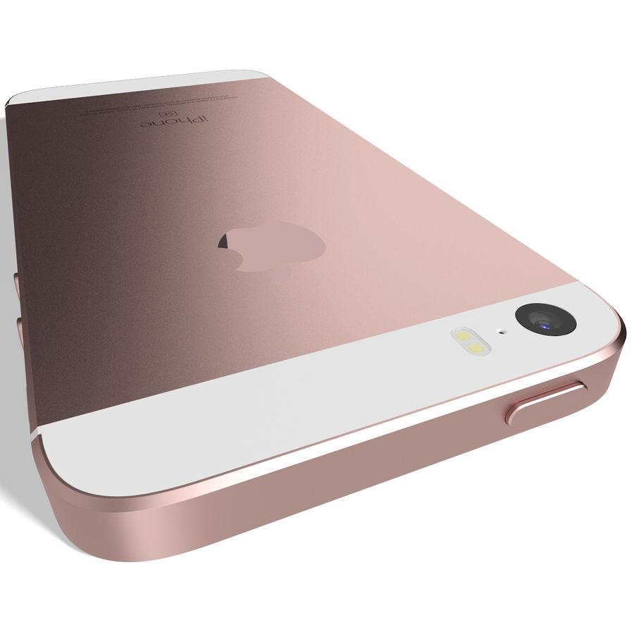 Apple iPhone SE Gül Altın royalty-free 3d model - Preview no. 7