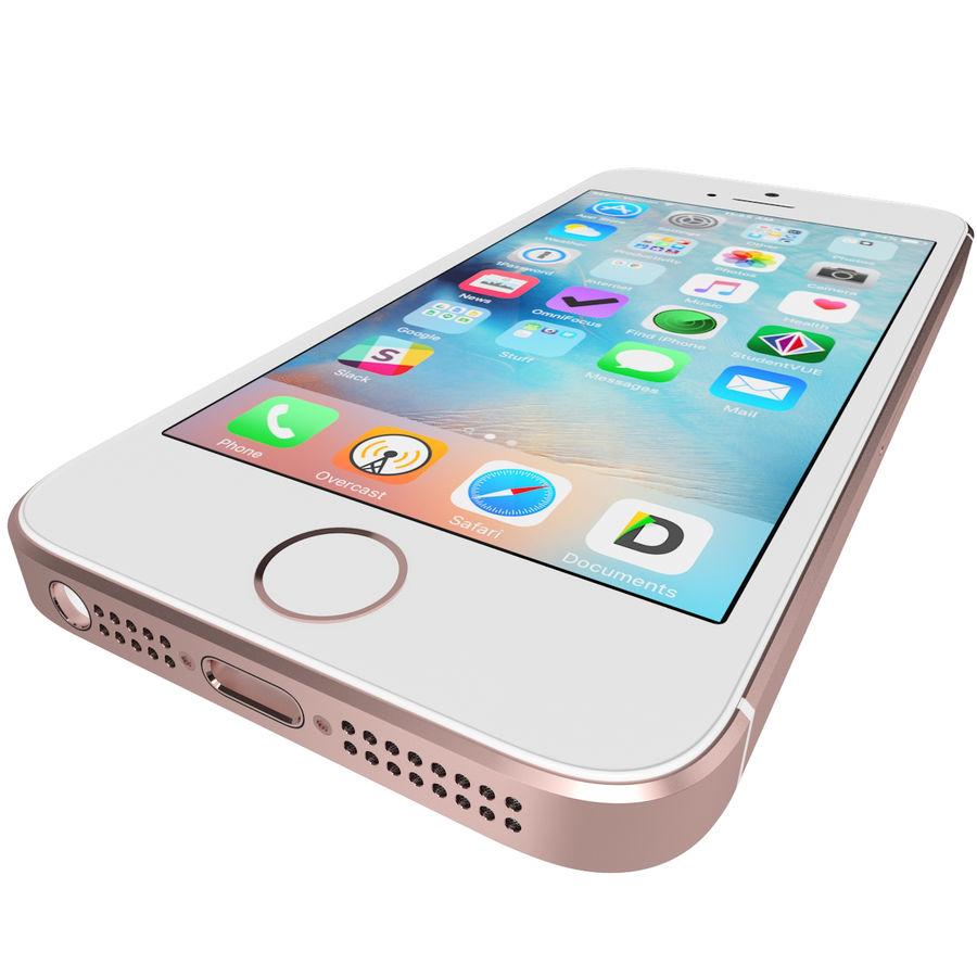 Apple iPhone SE Gül Altın royalty-free 3d model - Preview no. 12