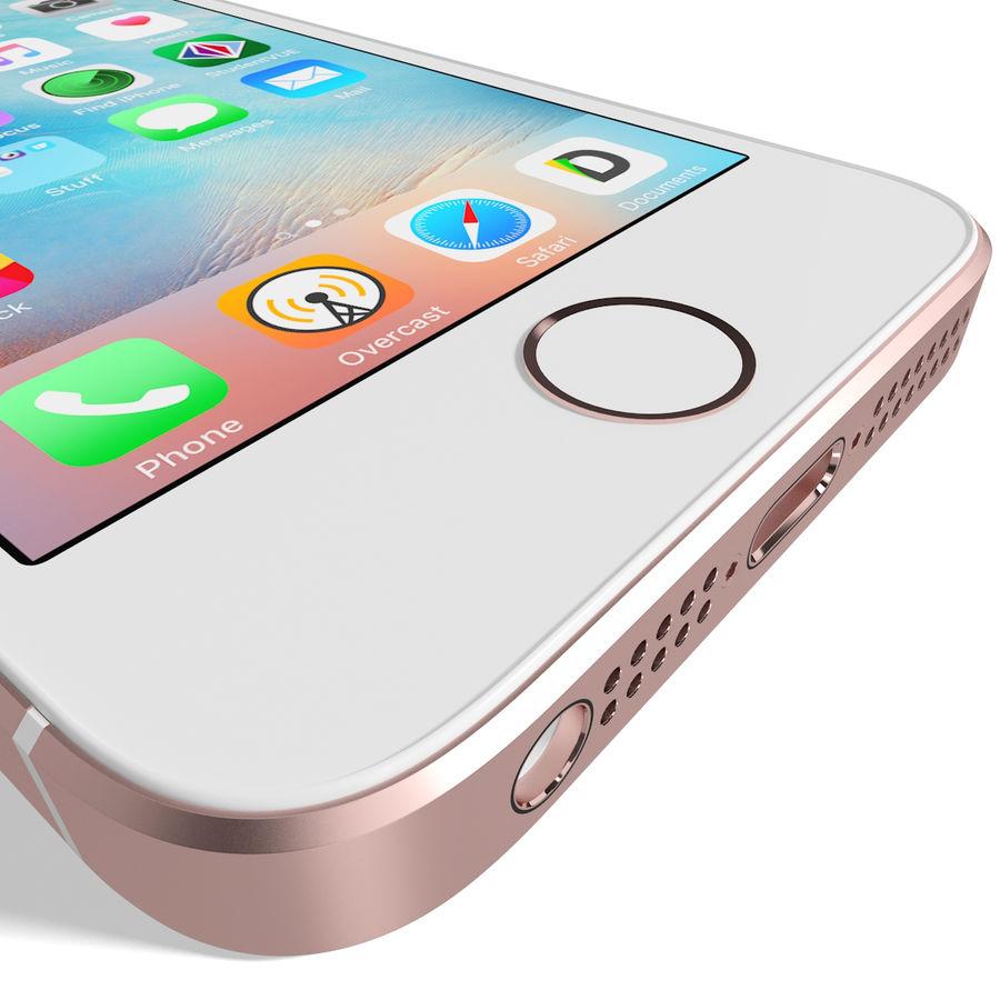 Apple iPhone SE Gül Altın royalty-free 3d model - Preview no. 15