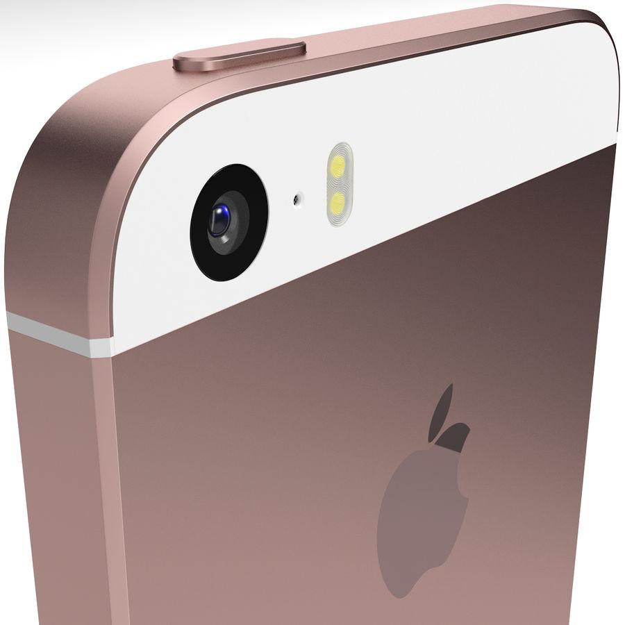Apple iPhone SE Gül Altın royalty-free 3d model - Preview no. 6