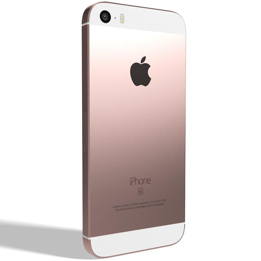 Apple iPhone SE Gül Altın royalty-free 3d model - Preview no. 4