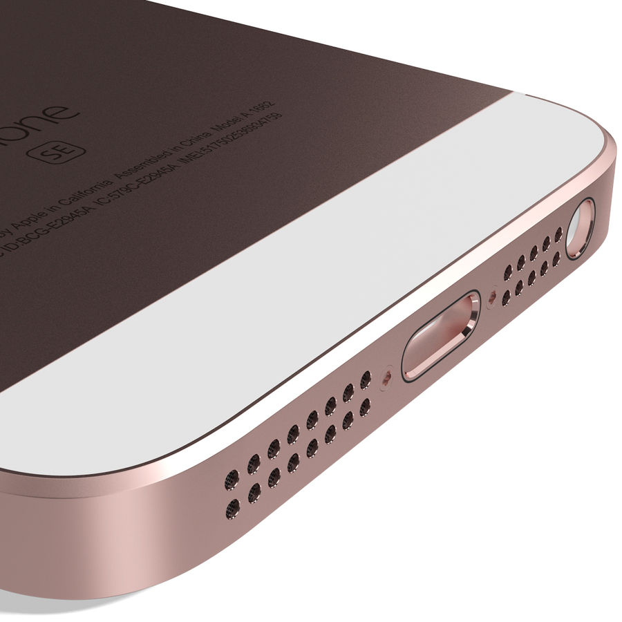 Apple iPhone SE Gül Altın royalty-free 3d model - Preview no. 14