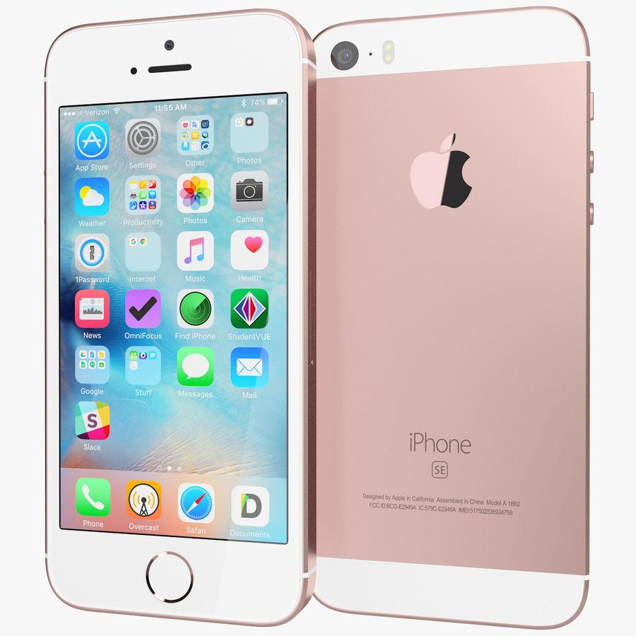 Apple iPhone SE Gül Altın royalty-free 3d model - Preview no. 1