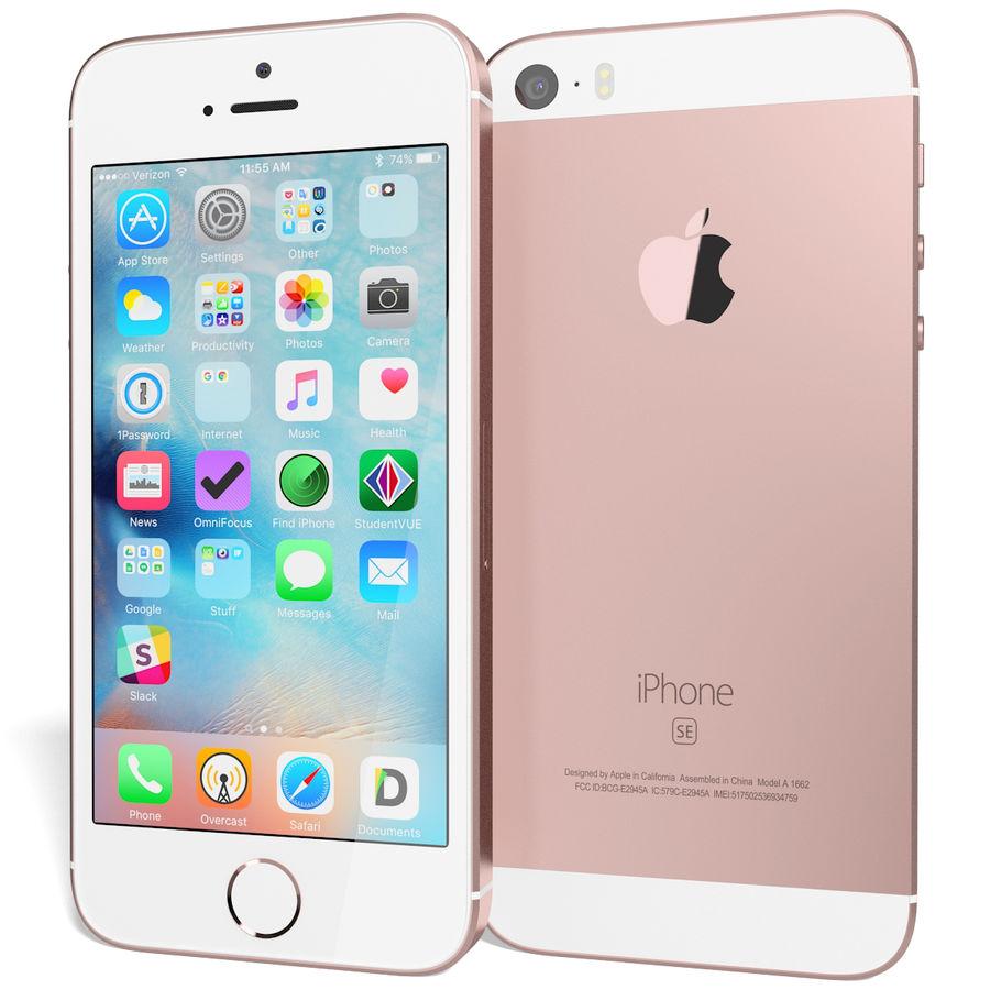 Apple iPhone SE Gül Altın royalty-free 3d model - Preview no. 3