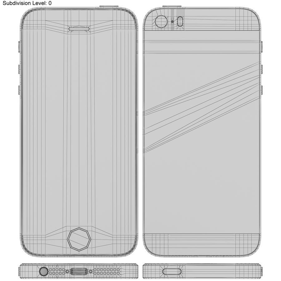 Apple iPhone SE Gül Altın royalty-free 3d model - Preview no. 17
