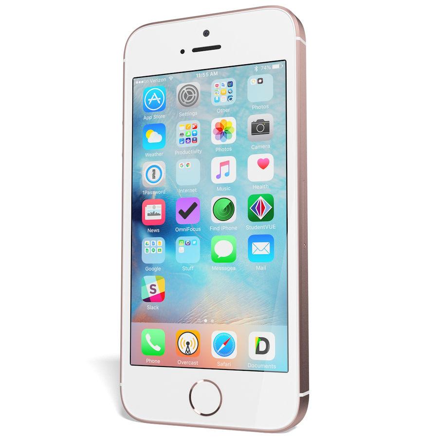 Apple iPhone SE Gül Altın royalty-free 3d model - Preview no. 5