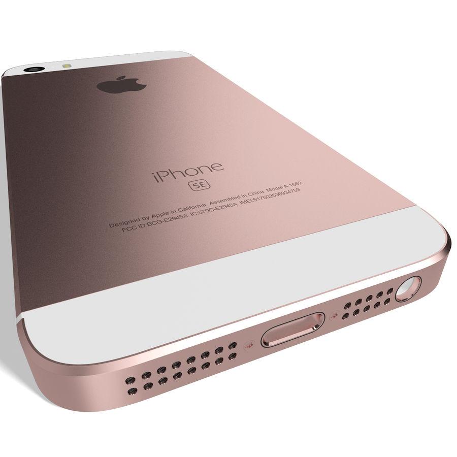 Apple iPhone SE Gül Altın royalty-free 3d model - Preview no. 8