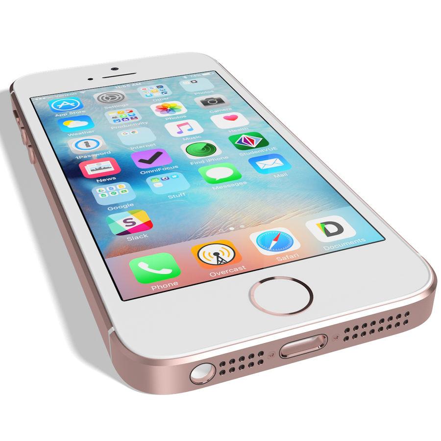 Apple iPhone SE Gül Altın royalty-free 3d model - Preview no. 11