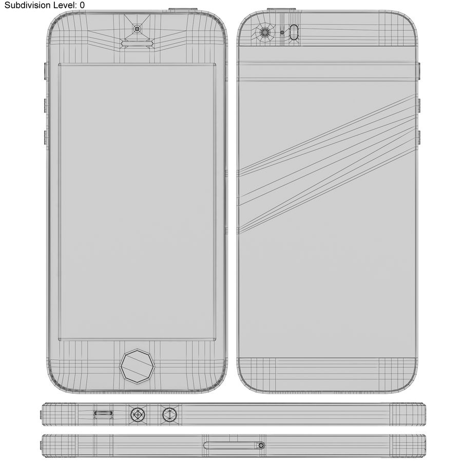 Apple iPhone SE Gül Altın royalty-free 3d model - Preview no. 19