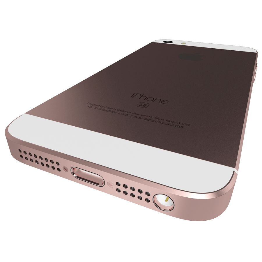 Apple iPhone SE Gül Altın royalty-free 3d model - Preview no. 9