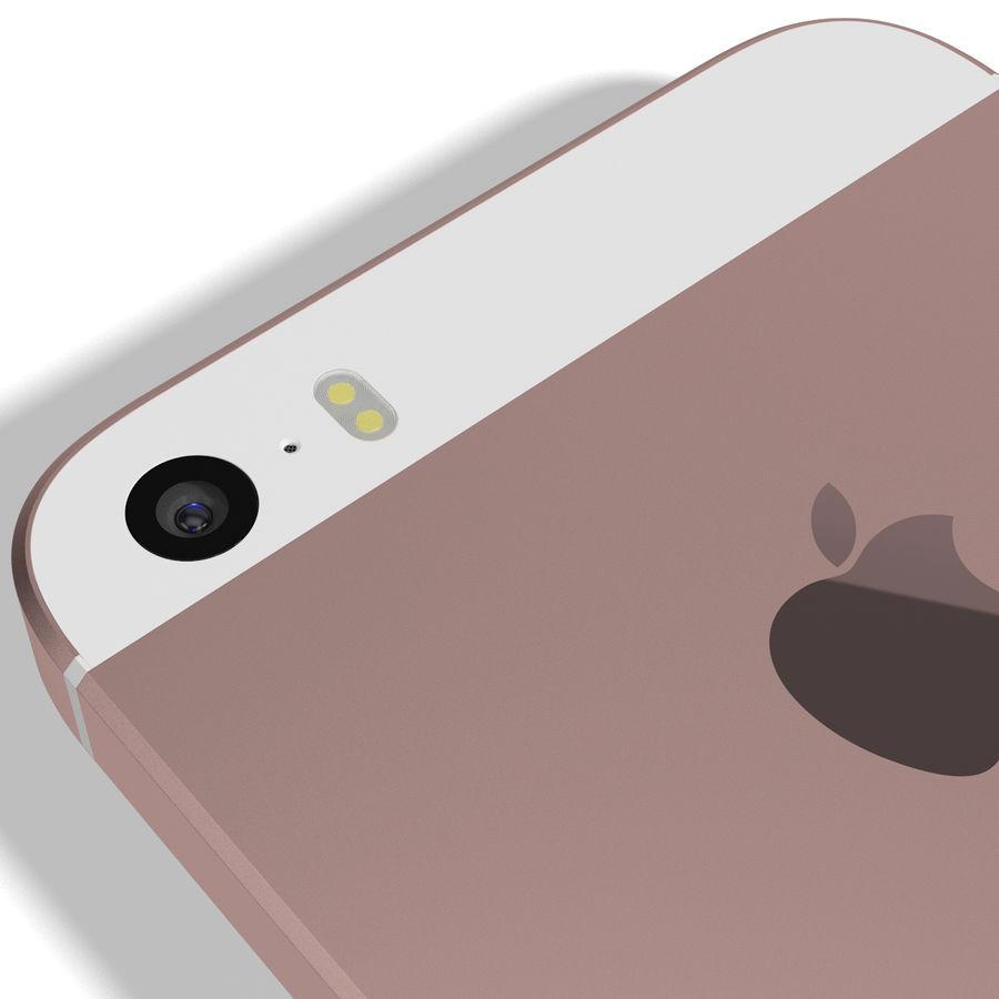 Apple iPhone SE Gül Altın royalty-free 3d model - Preview no. 13