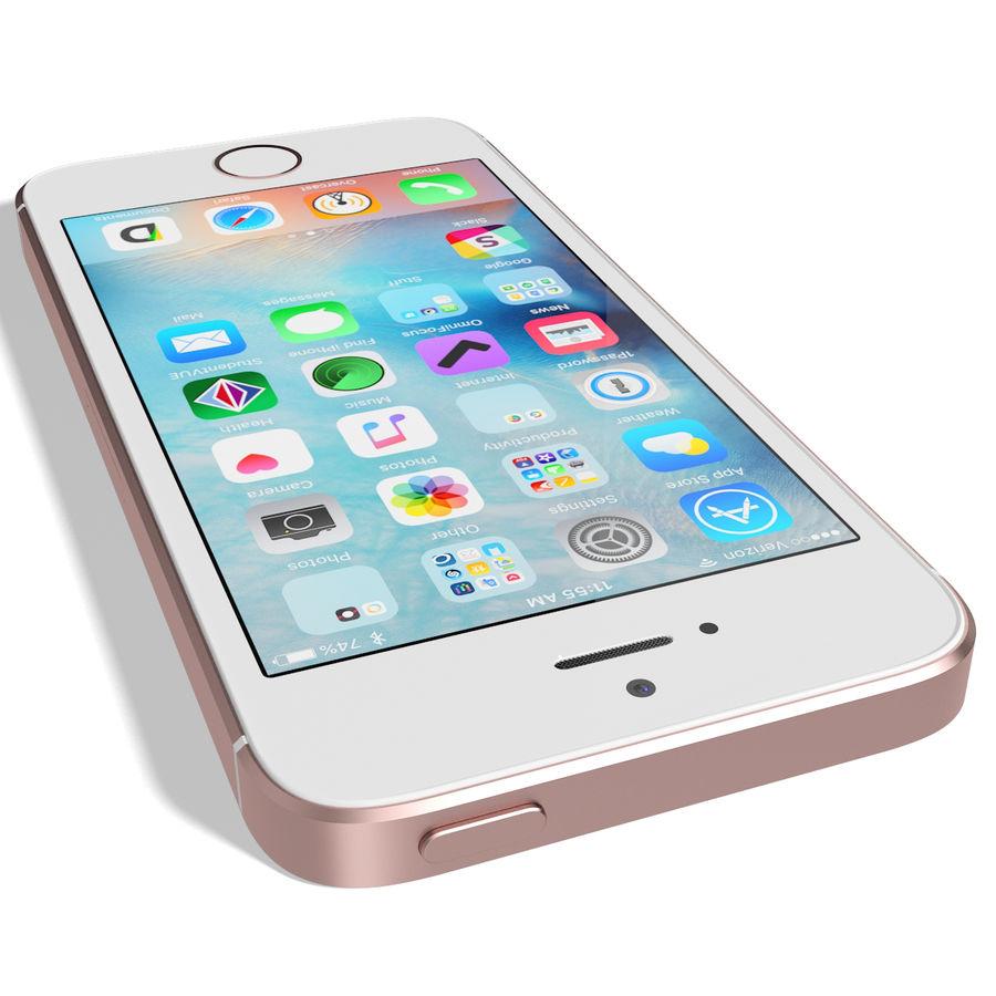 Apple iPhone SE Gül Altın royalty-free 3d model - Preview no. 10