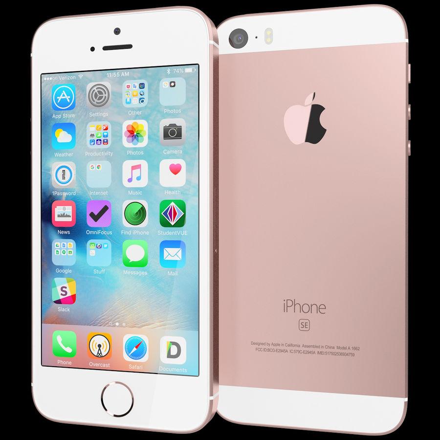 Apple iPhone SE Gül Altın royalty-free 3d model - Preview no. 2