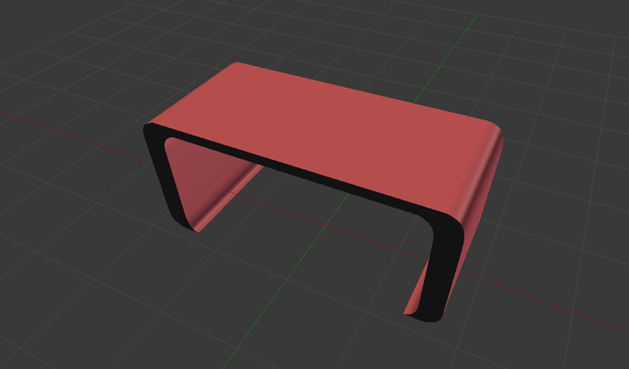 Table courbée royalty-free 3d model - Preview no. 5