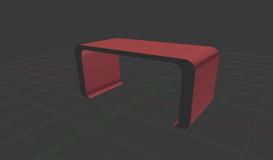 Table courbée royalty-free 3d model - Preview no. 3