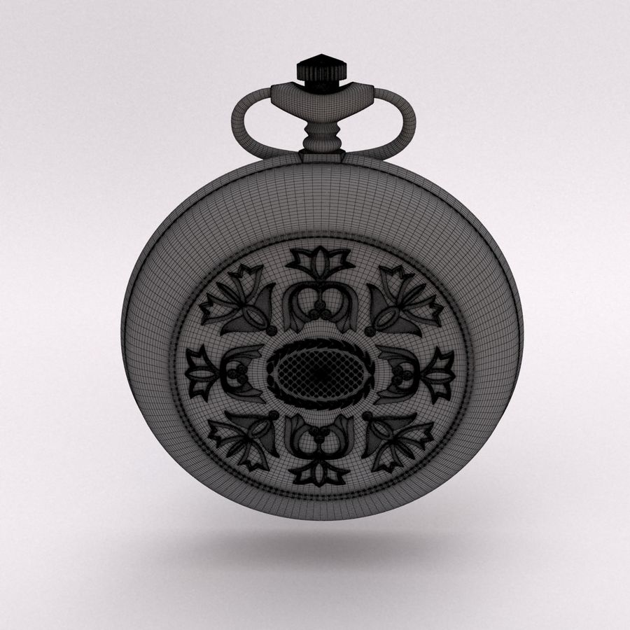 Pocket Watch royalty-free 3d model - Preview no. 13