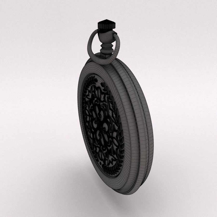 Pocket Watch royalty-free 3d model - Preview no. 17
