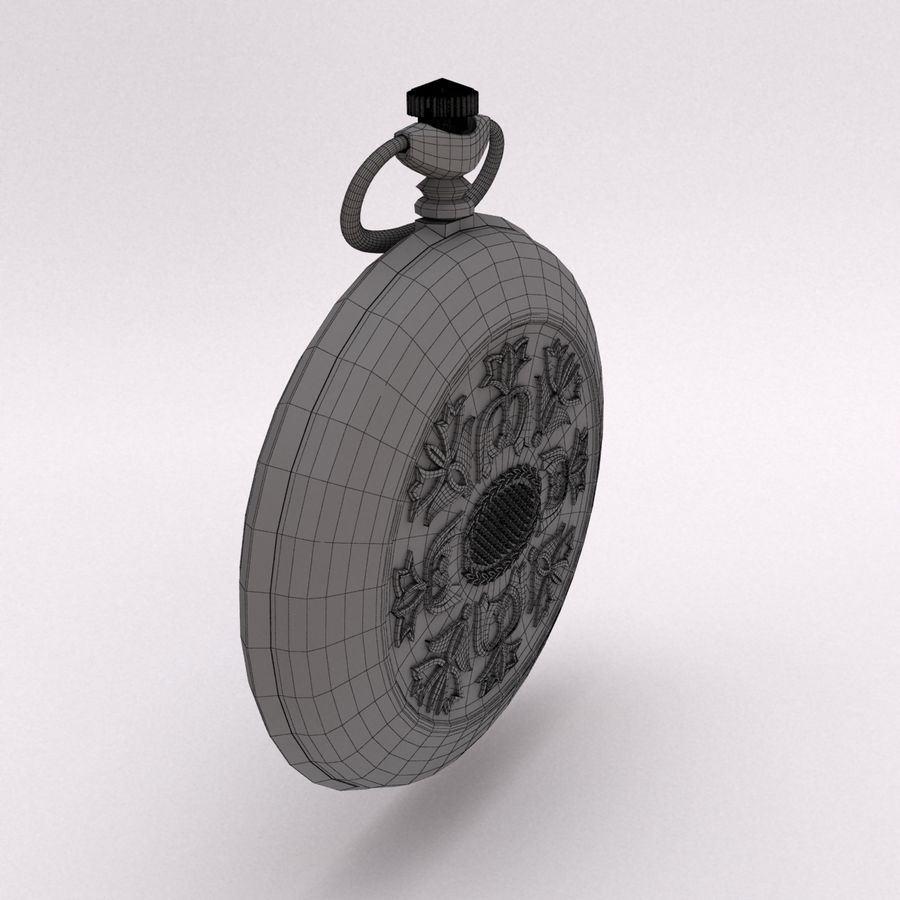 Pocket Watch royalty-free 3d model - Preview no. 9