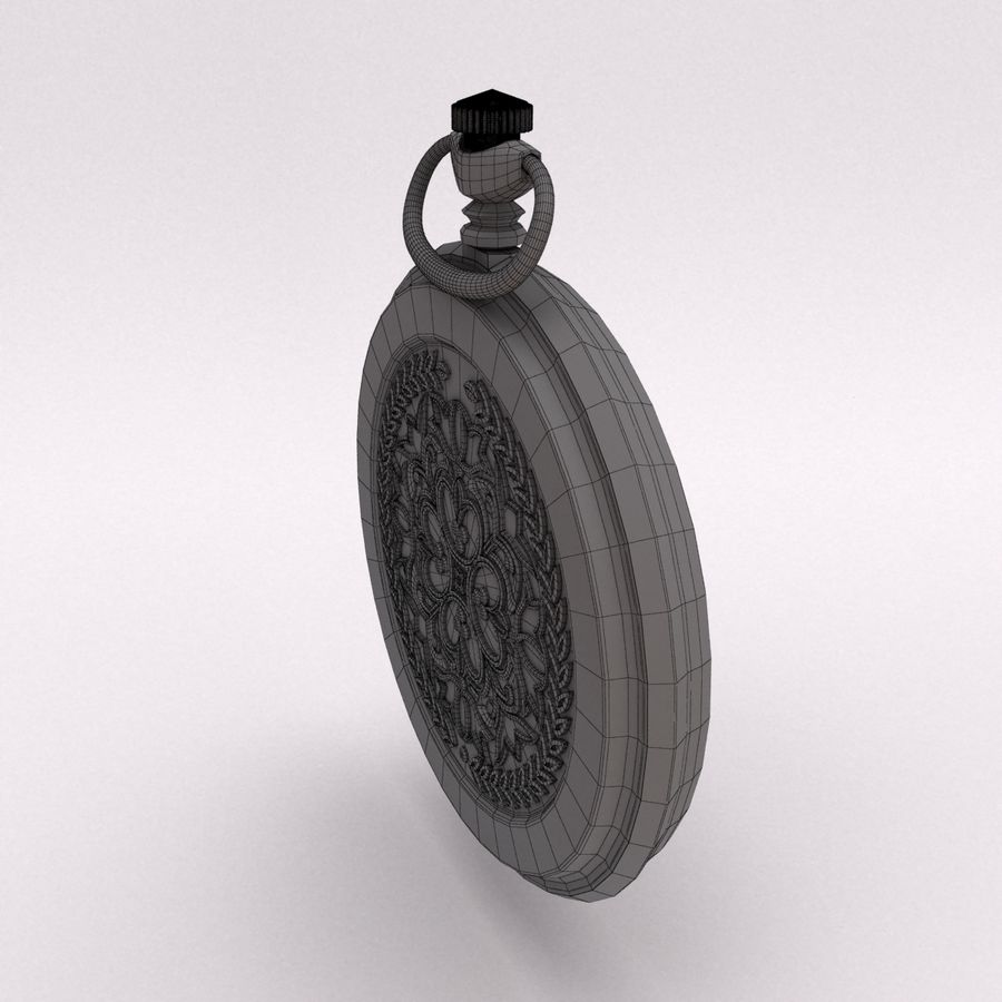 Pocket Watch royalty-free 3d model - Preview no. 11