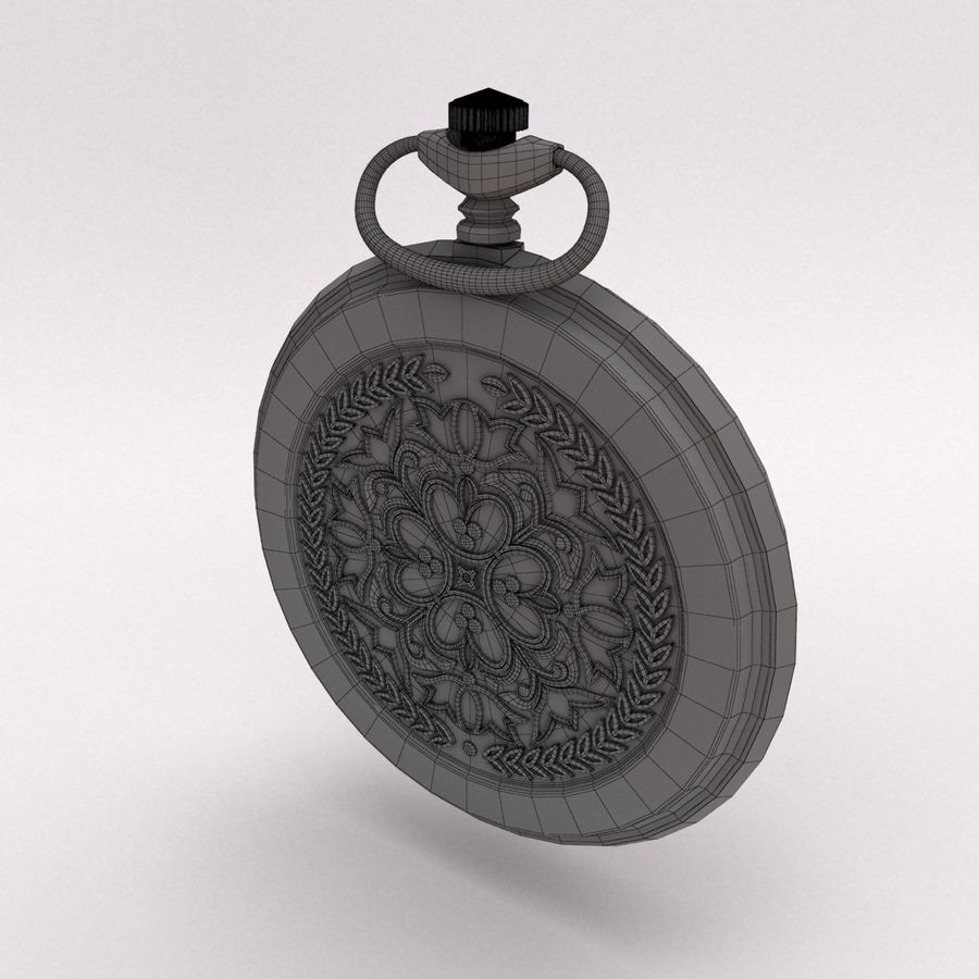 Pocket Watch royalty-free 3d model - Preview no. 12