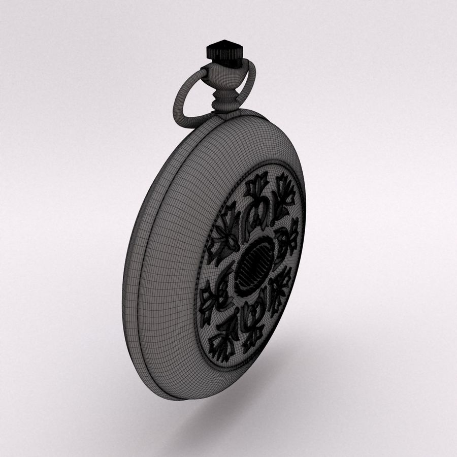 Pocket Watch royalty-free 3d model - Preview no. 15
