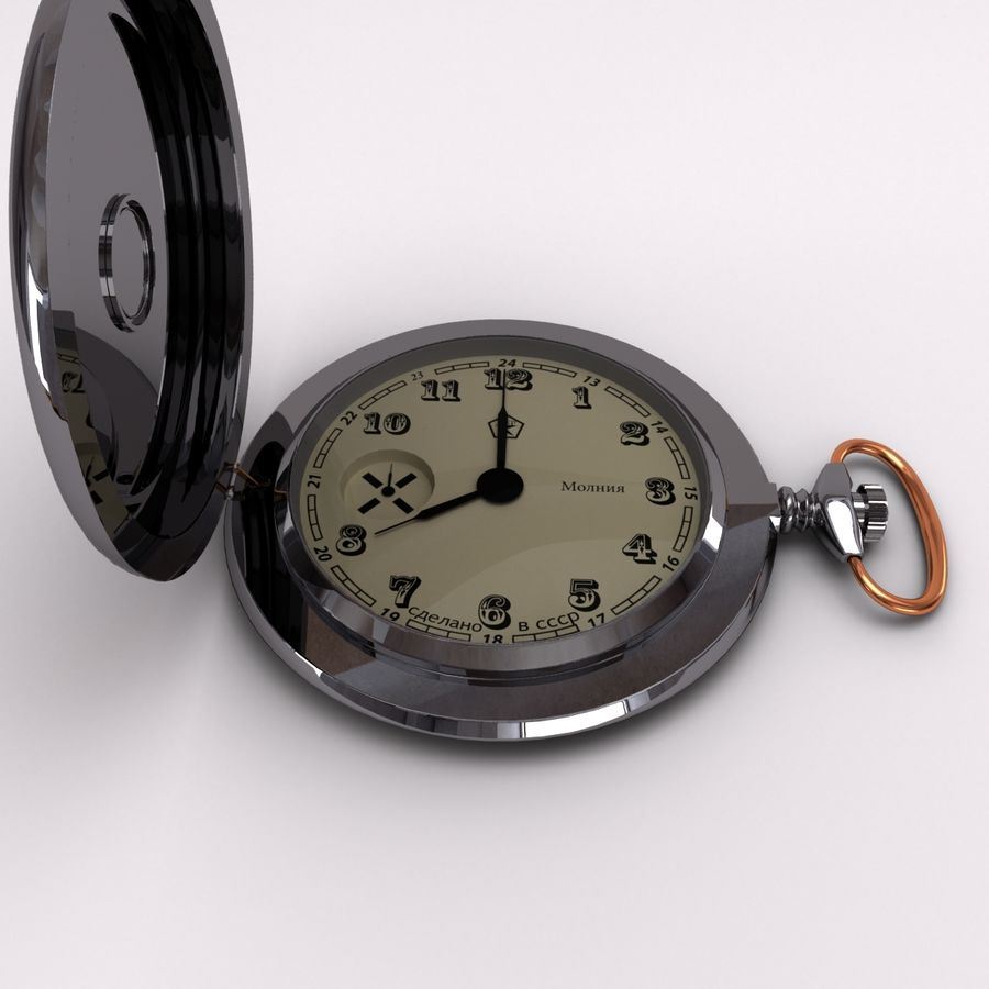 Pocket Watch royalty-free 3d model - Preview no. 6