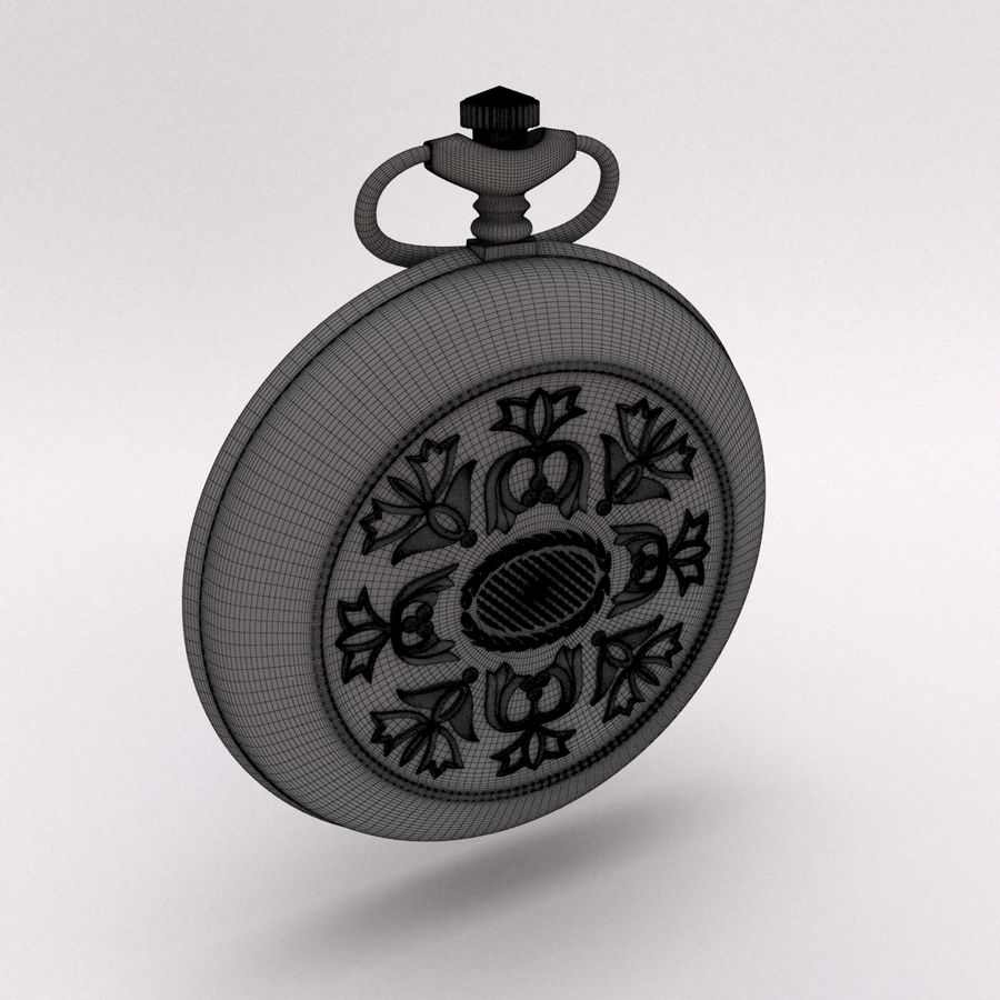 Pocket Watch royalty-free 3d model - Preview no. 14