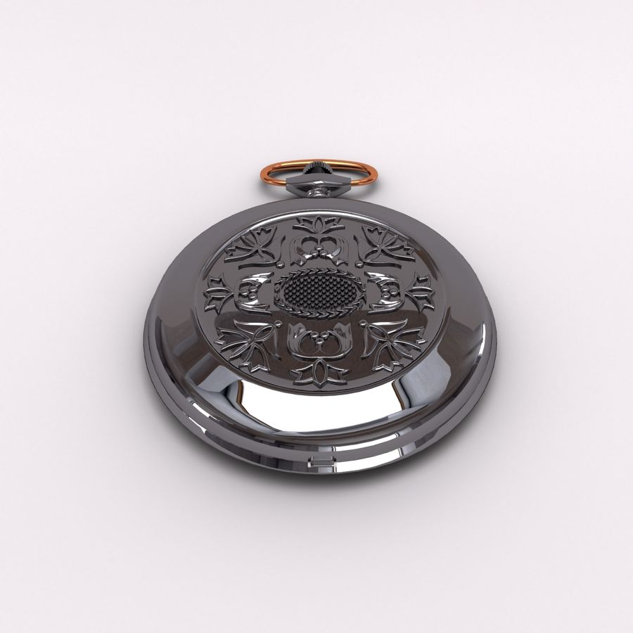 Pocket Watch royalty-free 3d model - Preview no. 4