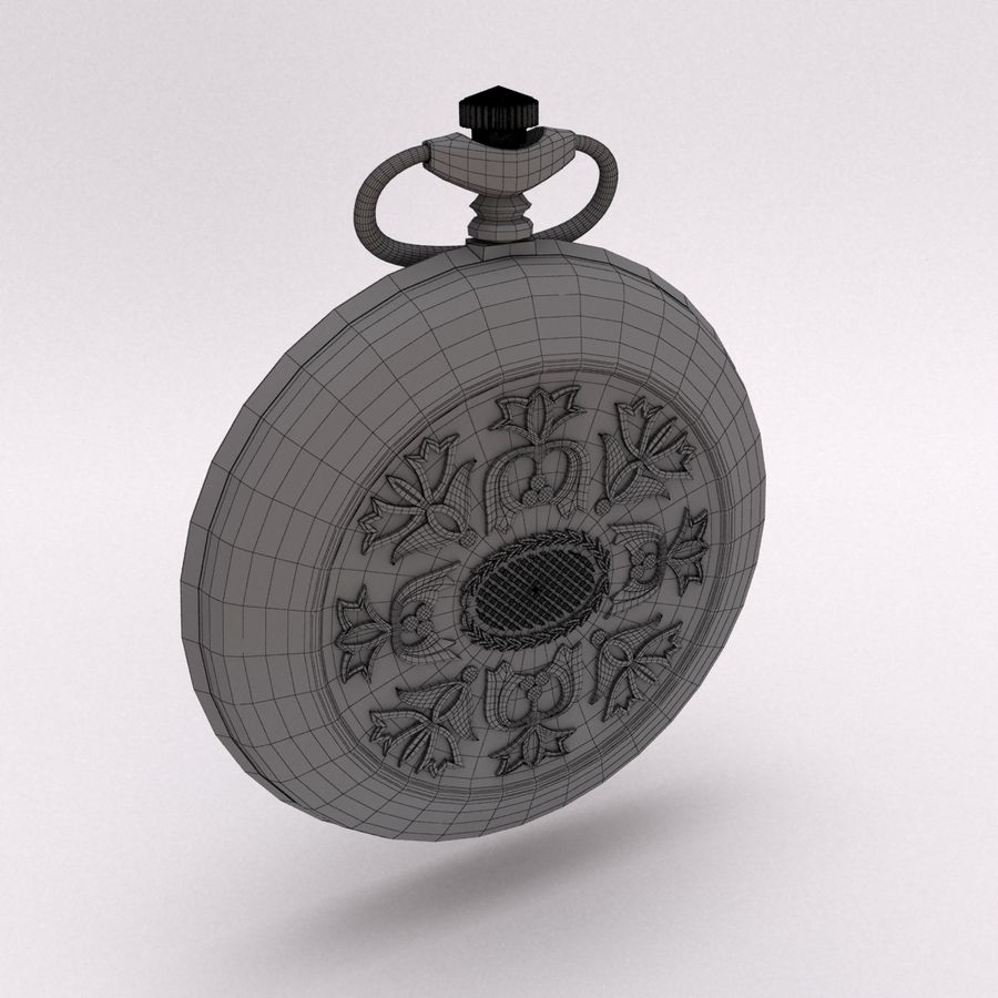 Pocket Watch royalty-free 3d model - Preview no. 8