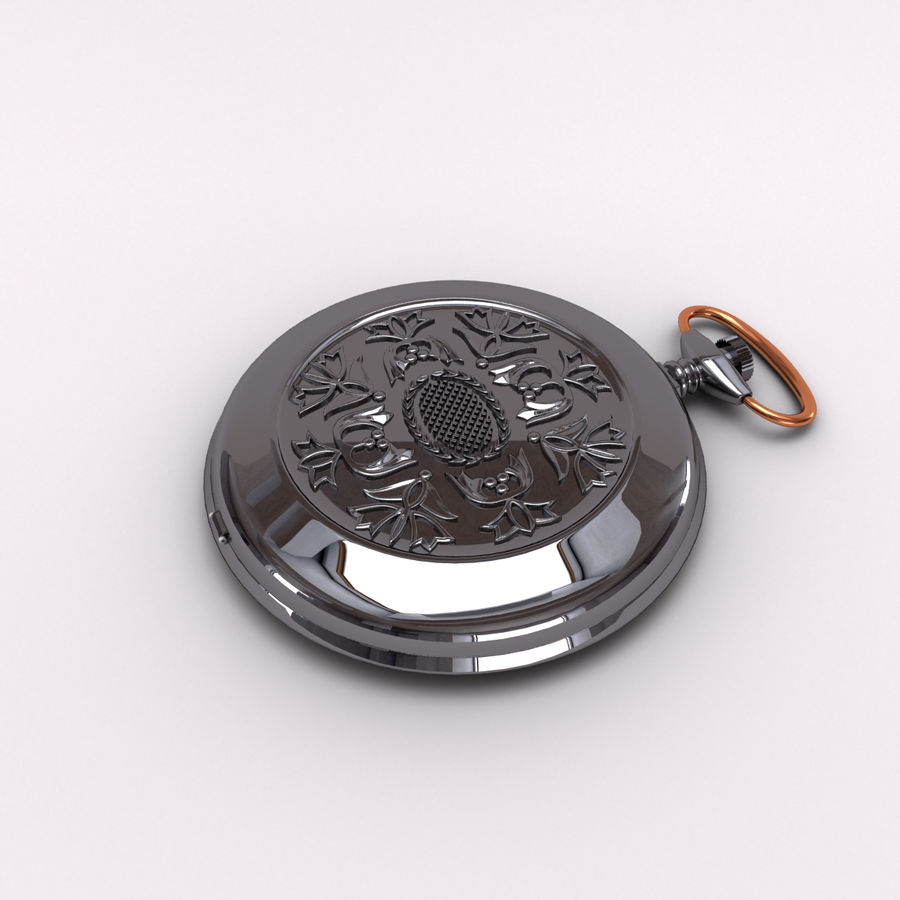 Pocket Watch royalty-free 3d model - Preview no. 2