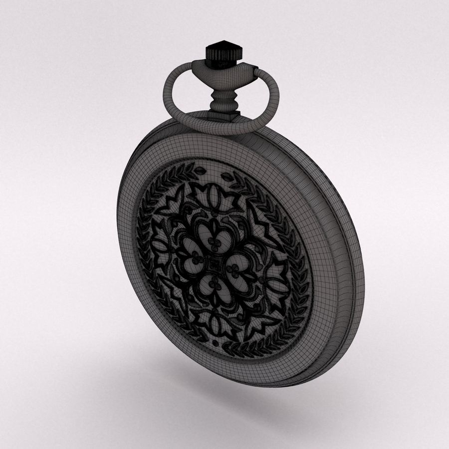 Pocket Watch royalty-free 3d model - Preview no. 18