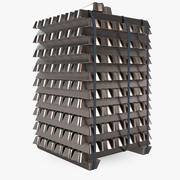 Metal Aluminium Blocks 3d model
