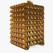 Gold Dirt Blocks 3d model