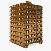 Guldblock 3d model