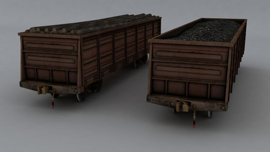 貨物列車 royalty-free 3d model - Preview no. 13